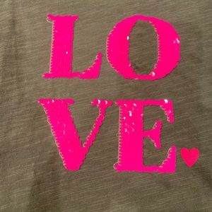 Boden Shirts & Tops - Mini Boden Sequin Love Tee